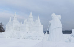 Snow castle Royalty Free Stock Image