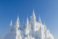 Snow castle Royalty Free Stock Photography