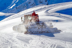 Snow Cat groming Ski Slope Stock Photography