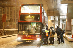 Snow cause travel trouble Stock Photos