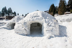 Snow cave Royalty Free Stock Image