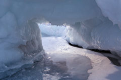 Snow caves of ice. Royalty Free Stock Image
