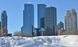Snow in Central Park. New York. Snow in Central Park. Manhattan. New York. USA Royalty Free Stock Photo