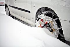Snow chain Stock Image