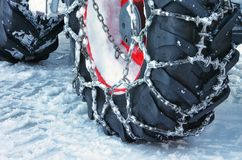 Snow chain Royalty Free Stock Images