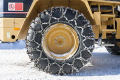 Snow chain Stock Photos