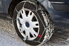Snow chains Royalty Free Stock Photo