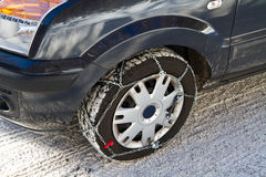 Snow chains Royalty Free Stock Photos