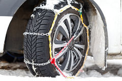 Snow chains Stock Images