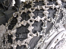 Snow Chains on truck. Snow chains on a big truck Royalty Free Stock Photos