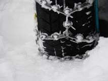 Snow chains winter Royalty Free Stock Photos