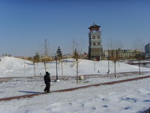 After the snow, Chinese northern cities Stock Photo