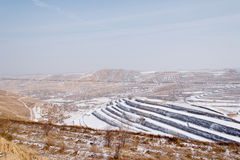 Snow in Chinese northwest rural Royalty Free Stock Image