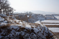Snow in Chinese northwest rural Stock Images
