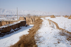 Snow in Chinese northwest rural Stock Photos
