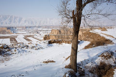 Snow in Chinese northwest rural Royalty Free Stock Images