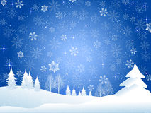 Snow christmas background Stock Photography
