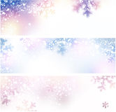 Snow christmas banners. Royalty Free Stock Image