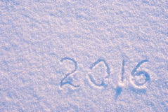 2016 on the snow Royalty Free Stock Image