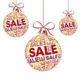 Snow christmas red ring sale Stock Photography