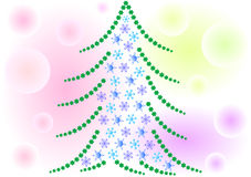 Snow Christmas tree Stock Images