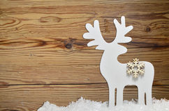 Snow Christmas wooden background Royalty Free Stock Image