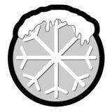 Snow circle icon Royalty Free Stock Photography
