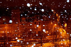 Snow in the city Stock Photo