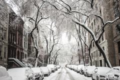 Snow in the City Illustration Stock Image