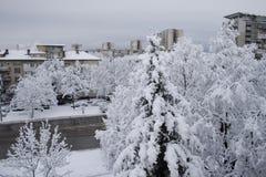 Snow city Stock Photo