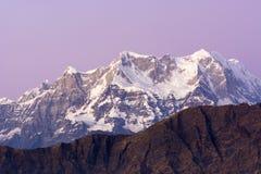 Snow clad Peak in Himalaya Stock Photos