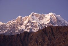 Snow clad Peak in Himalaya Royalty Free Stock Images