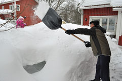 Snow  cleaning Stock Photos