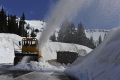 Snow Cleaning Royalty Free Stock Image