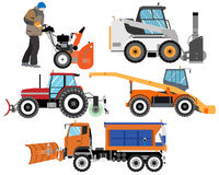 Snow clearing equipment Stock Photo