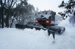 Snow clearing tractor Mt Baw Baw Victoria Australia Stock Photos