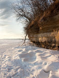 Snow and Cliff Royalty Free Stock Photos