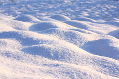 Snow close up. In the afternoon Royalty Free Stock Photo