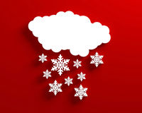 Snow cloud christmas red Royalty Free Stock Photo