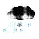 Snow Cloud Halftone Dotted Icon vector illustration