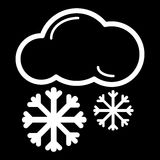 Snow Cloud Meteo Icon. Vector Illustration Isolated On Black. Stock Photos