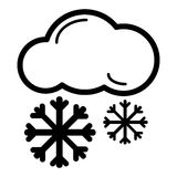 Snow Cloud Meteo Icon. Vector Illustration Isolated On White. Royalty Free Stock Image