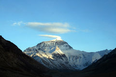 Snow cloud plume at Mt.everest Royalty Free Stock Image