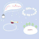 Snow clouds. Snow cloud, snowdrift, smoke for a congratulation on holidays Stock Images