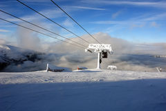 Snow clouds and lift. Stock Photography