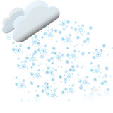Snow with clouds Royalty Free Stock Photography
