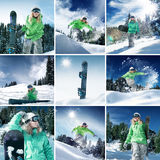 Snow collage Royalty Free Stock Image