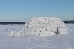Snow construction of igloo Stock Photography