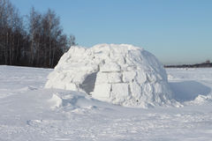 Snow construction of igloo Royalty Free Stock Photos