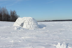 Snow construction of igloo Royalty Free Stock Images